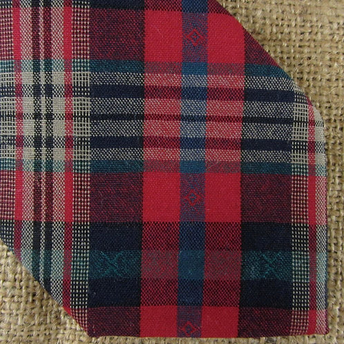 Pendleton Wool Plaid Necktie Red Blue Tie USA