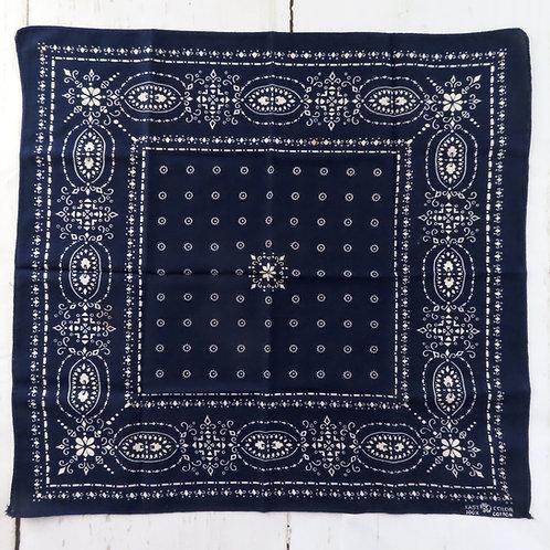 Dark blue Elephant brand bandana with delicate white design