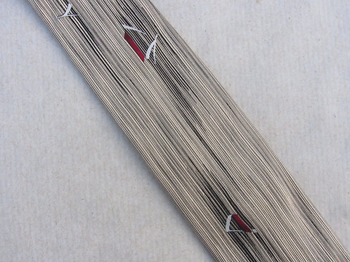 Mid Century Skinny Tie A. Sulka Company Necktie Cream Black Atomic Stripes