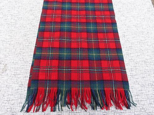 Vintage Pendleton Wool Scarf Boyd Tartan Plaid