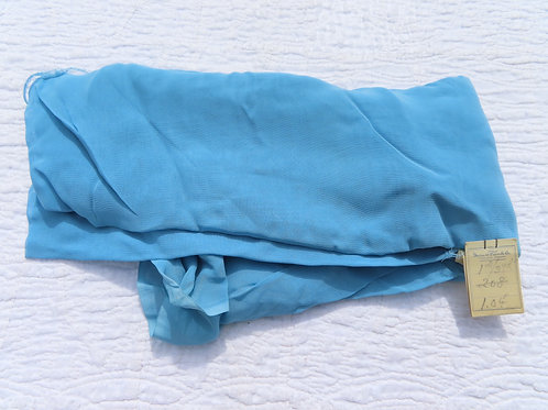 Blue rayon fabric from the 50s