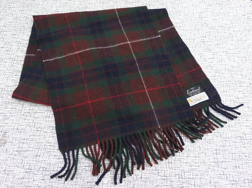 Vintage Aquascutum Brown Plaid Wool Scarf