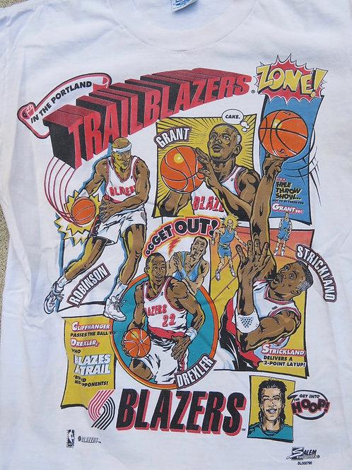 Vintage 90s Portland Trailblazers basketball team tee