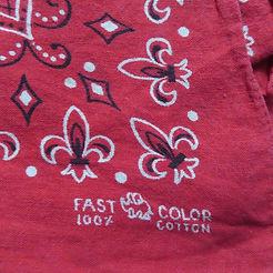 red fast color elephant brand bandana