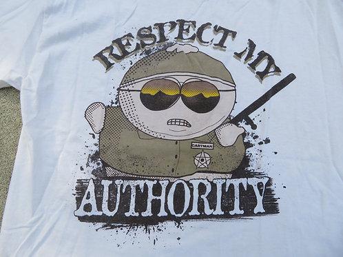 Vintage 90s South Park Tee L Cartman Respect my Authority