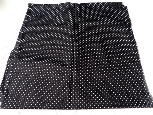 Black and white polka dot fabric