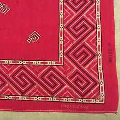 antique turkey red ironweave bandana