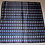 Thumbnail: Vintage Gray Blue Silk Satin Polka Dot Scarf