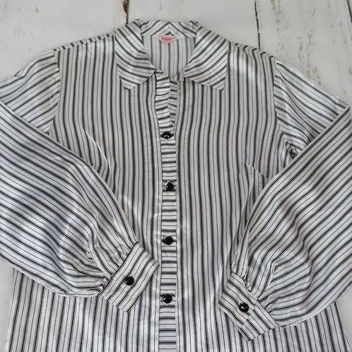 Vintage 70s Graff striped shirt blouse