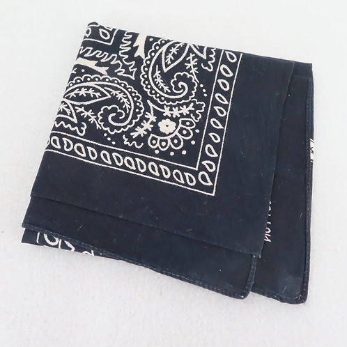 Black Paisley Print Bandana Handkerchief #295