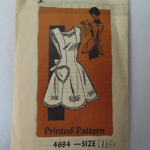 Vintage apron sewing pattern from a mail order company