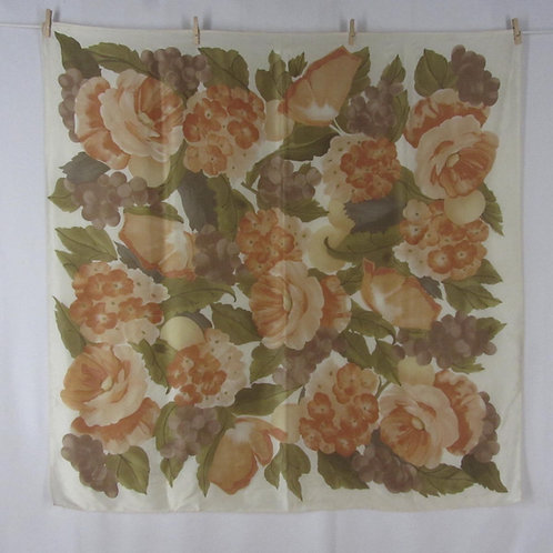 Large square floral print scarf by Echo