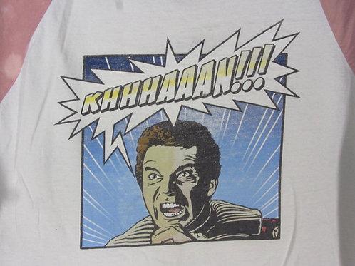 Vintage 90s Star Trek Experience Tee Captain Kirk Khan AS IS