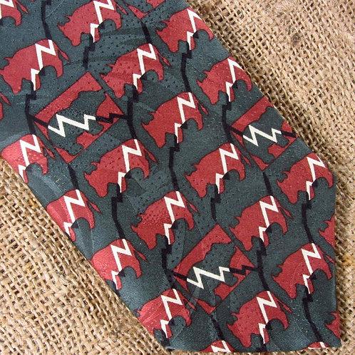 RM Styles Necktie Stockbroker 2 Ralph Marlin Novelty Print 58 x 3 3/4