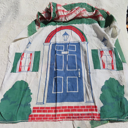 Vintage fabric playhouse for kids by the Bemis Bag Co