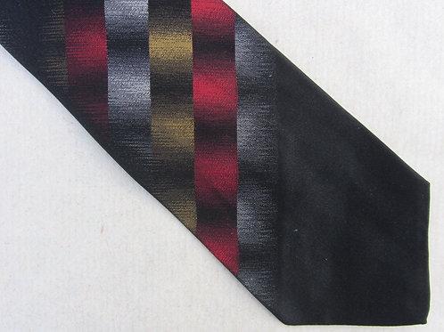 Vintage 50s A. Sulka & Company Tie Black Red Gold Silk Necktie 56 x 3