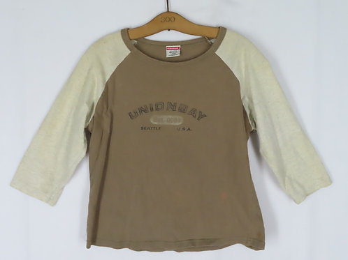 Vintage brown and beige Union Bay baseball style tee shirt