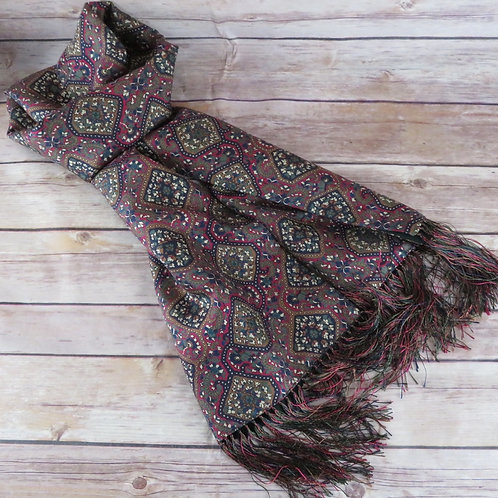 Vintage paisley silk scarf