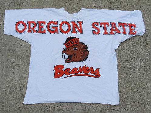 White Oregon State Beavers vintage tee