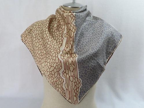 Vintage Cornelia James silk scarf on mannequin