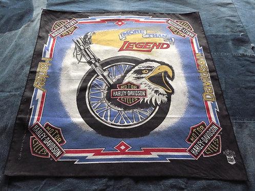 Vintage 90s Harley Davidson brand bandana with eagle logo