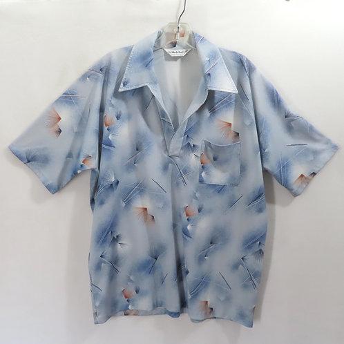 Vintage pullover blue print golf shirt