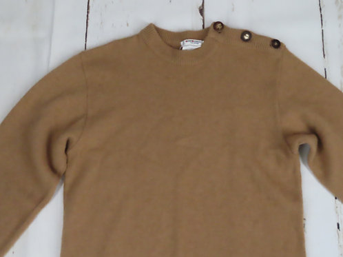 Vintage light brown camel hair wool sweater by Yves St Laurent