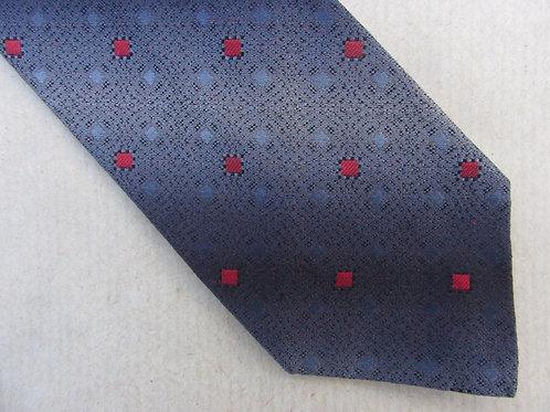 Vintage 50s Necktie MCM Mid Century Silk Tie Ombre Gray Blue Red Diamond A Sulka