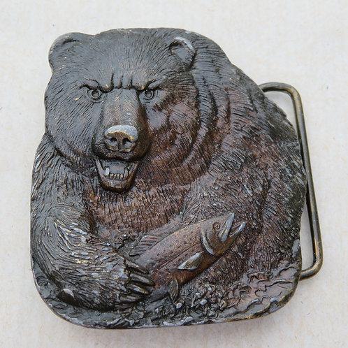 Vintage bear shaped belt buckle by Bergamot Brass