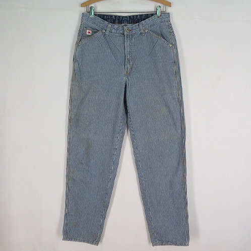 Blue and white striped vintage jeans by Rockies