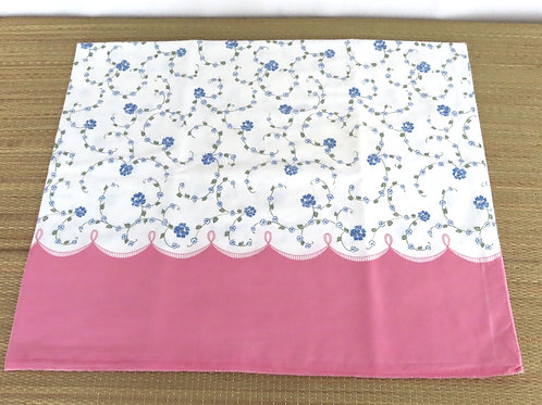 Vintage pink and white floral feedsack pillowcase