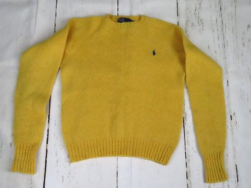 Vintage Polo Ralph Lauren Yellow Crew Pullover Sweater M