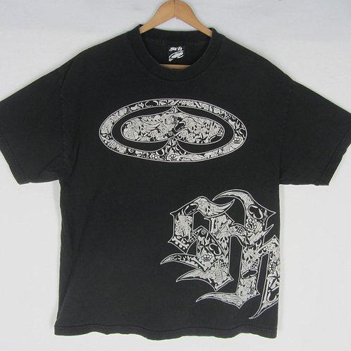 Vintage 90s SRN Street Wear Tee Urban Tribal XL Black Cotton