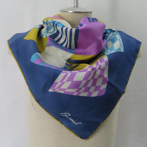 Vintage Burmel patchwork print scarf on mannequin