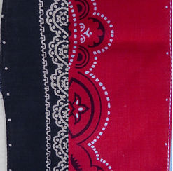 registration dots on edge of vintage bandana