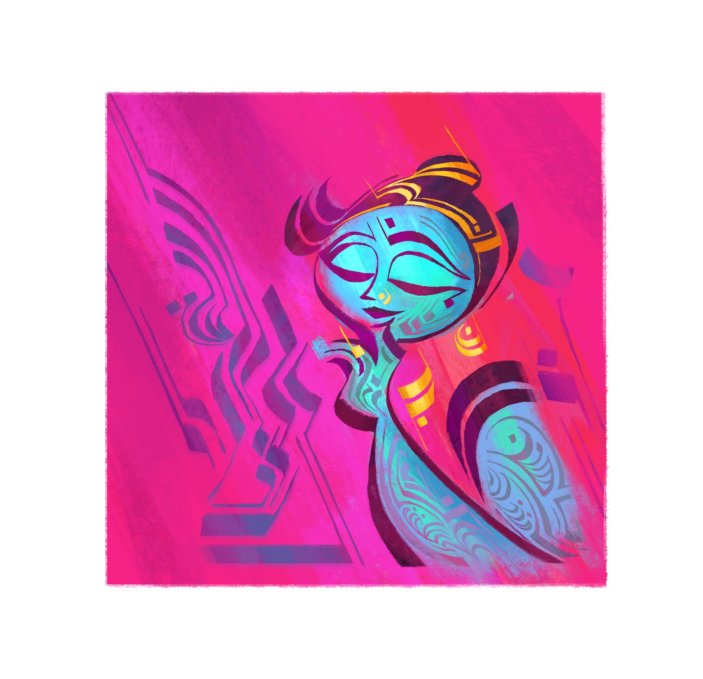 Indian Dancer 04, 8 x 8