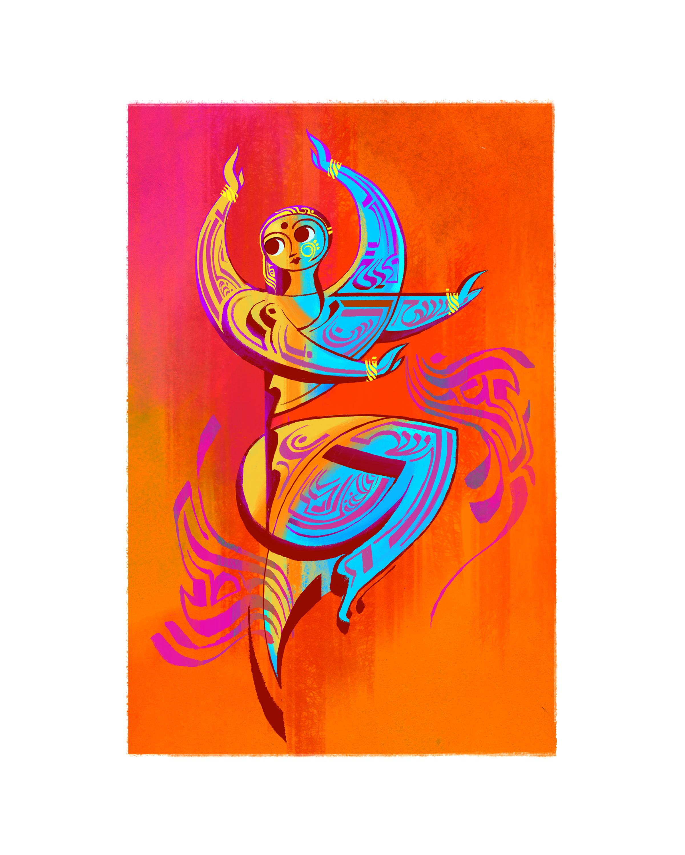 Indian Dancer 06, 8 x 10