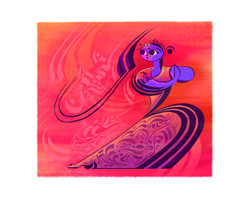 Indian Dancer 04, 8 x 10