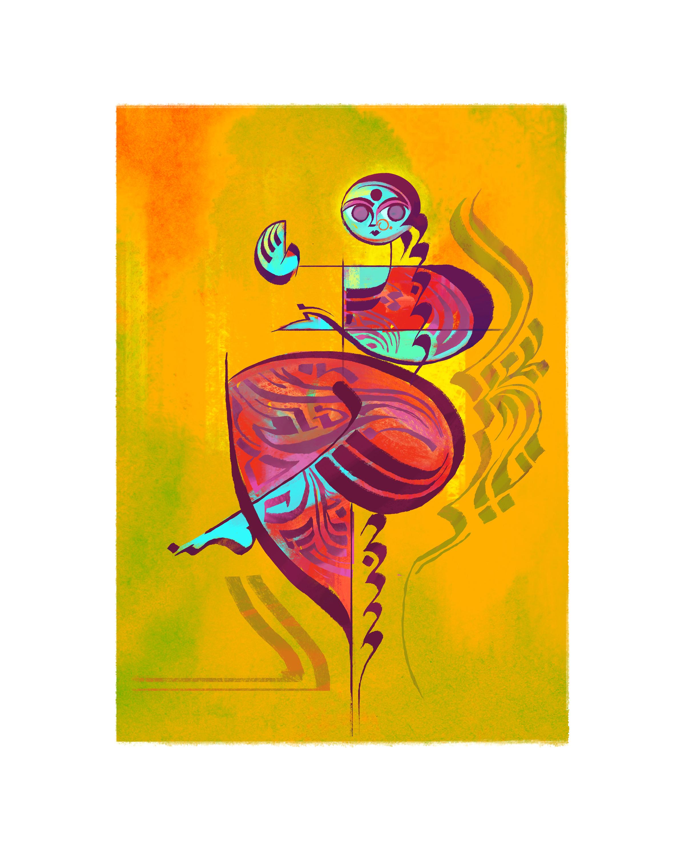Indian Dancer 08, 8 x 10