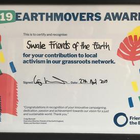 Earthmovers Award April 2019