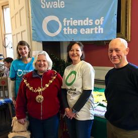 Xmas Market 2017 with Mayor of Faversham Shiel Campbell