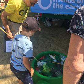 Plastics fishing game Faversham Nautical Fest 2018