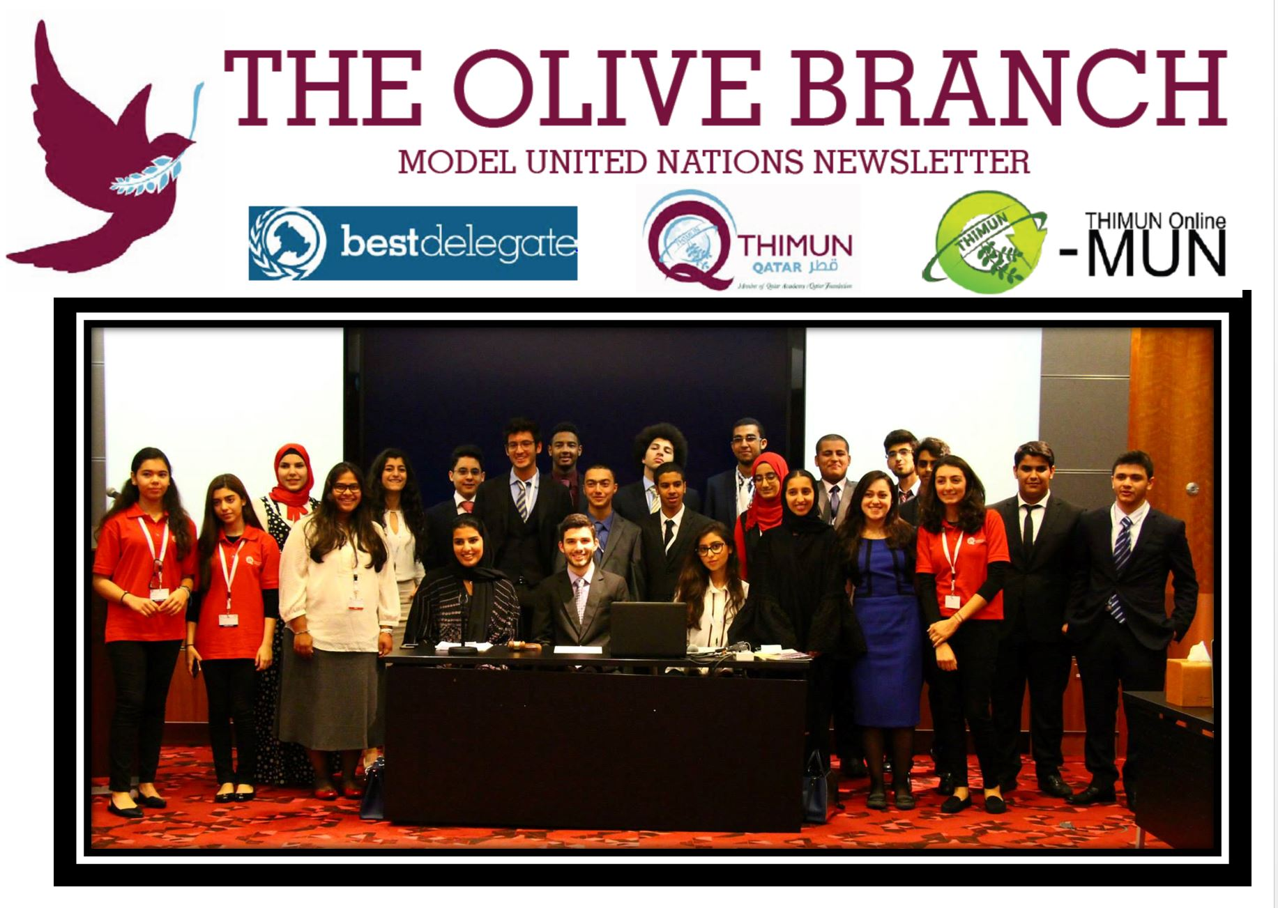 Nabila Elassar, United Ambassadors Founder after successful THIMUN 2015 Arabic Committee