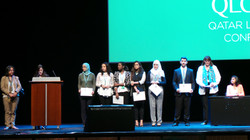Arab Ambassadors Arabic MUN Team Awarded on QLC 2015 Stage by Qatar Foundation