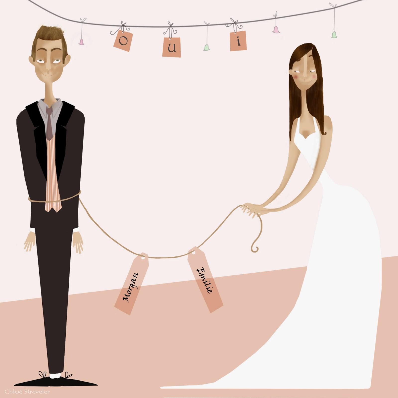 Faire part de mariage Chloé