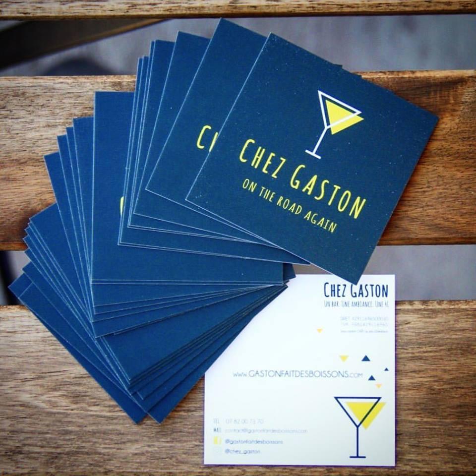 Carte de visite Chez Gaston Angie Pir Collectif Artisalie asbl