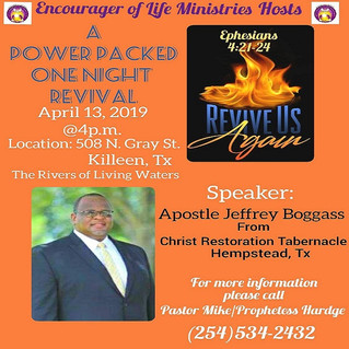 Revive Us Again - A Power Packed One Night Revival