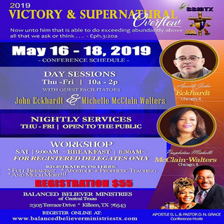 Victory & Supernatural Overflow 2019 Conference