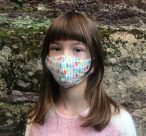 Masque tissu adulte, ado et enfant petites glaces
