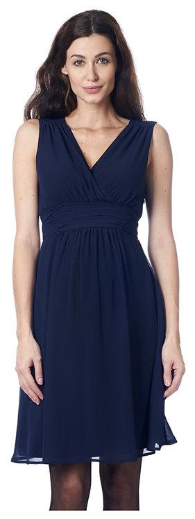 Robe femme enceinte bleu marine drapée habillée